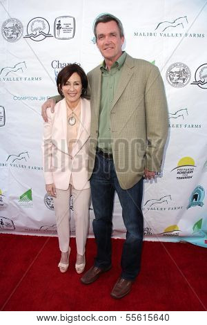 LOS ANGELES - MAY 18:  Patricia Heaton, Neil Flynn at the 6th Annual Compton Jr. Posse Gala  at Los Angeles Equestrian Center on May 18, 2013 in Los Angeles, CA