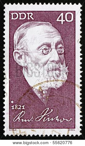 Postage Stamp Gdr 1971 Rudolf Carl Virchow, Doctor