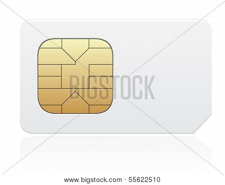 Sim Card Vector Illustration