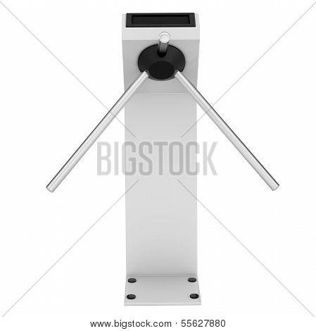 White turnstile
