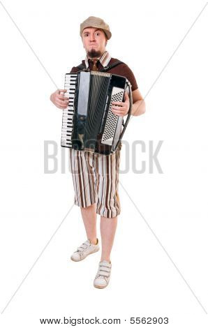 Cool Musician With Concertina