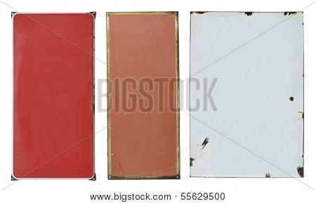 Enamel metal plates