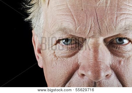 Old man close up