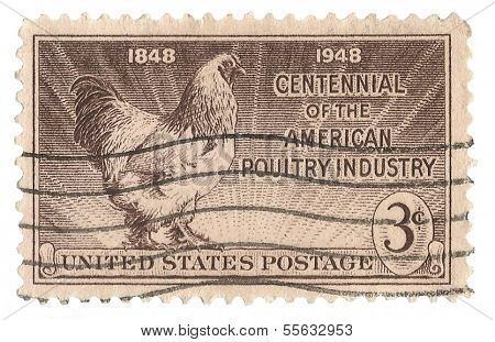 United States Stamp of 100 years of American Poultry Industry