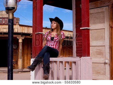 Pretty teen cowgirl