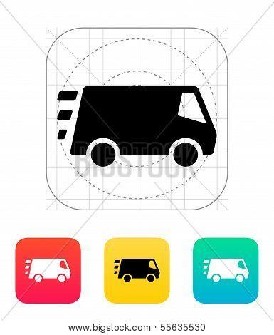 Fast delivery Minibus icon.