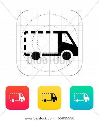 Empty delivery minibus icon.