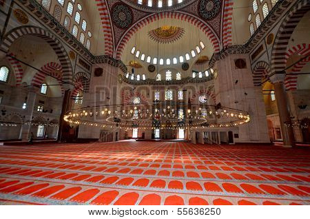 Inside the Suleiman Mosque