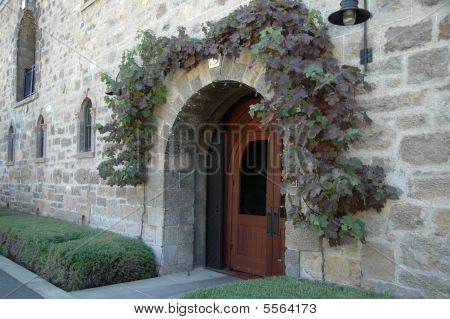 Stone Wall Of Winery