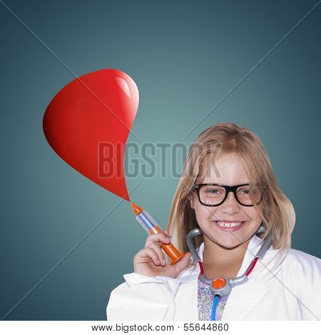 girl with doctor uniform