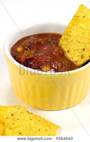 Corn Chips And Salsa