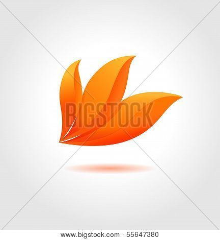 Orange Flower. Abstract Flower Symbol For Your Business