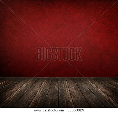Red Interior Room