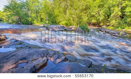 Sturgeon River cascade, Canyon Falls Roadside Park, MI