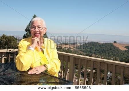 Elderly African American Black Woman