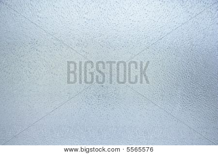 Like Water Drops On Windowpane. Glass Background.