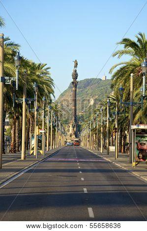 Passeig de Colom in Barcelona