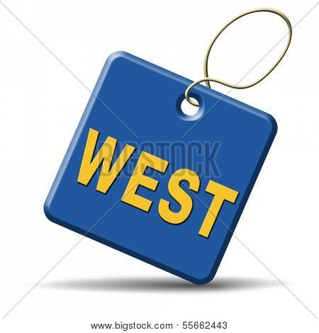 west geographical direction western world