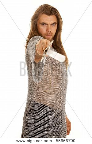 Man Chain Mail Sword Point