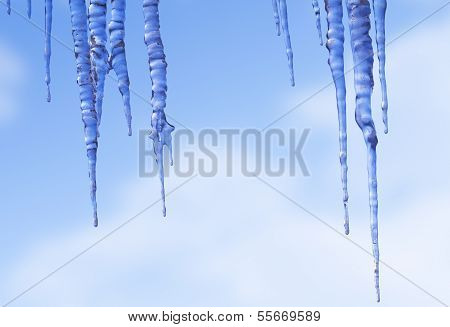 Icicles Against The Winter Sky