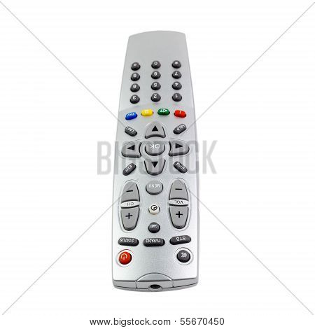 access  remote control tv monitoring support isolated on white b