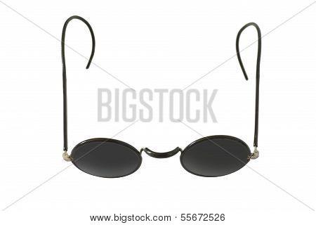 Old Black Round Eyeglasses