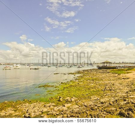 Boats And Nature Landscape In The Coast