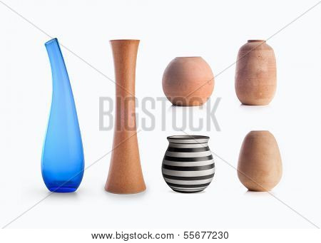 Assorted decorative vases