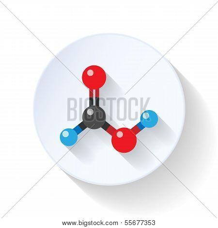 Molecule flat icon