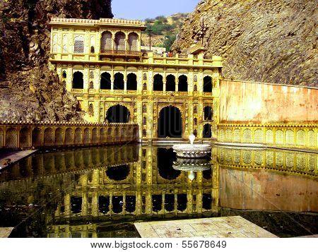 Galta temple in India