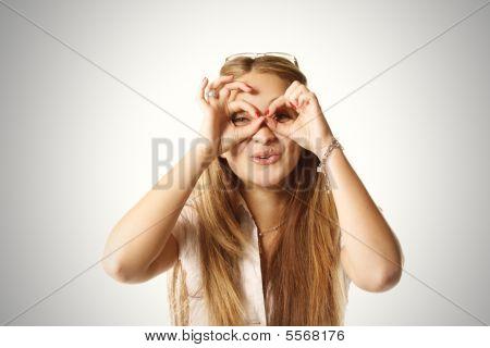 Hands As Binoculars