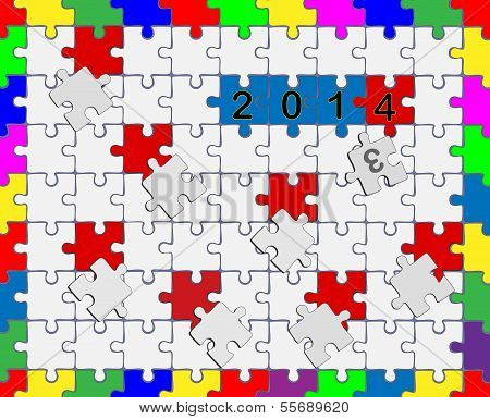 6 Jigsaw Drop-down Puzzle 2013- 2014 - Your Text