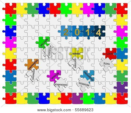 7   Jigsaw Drop-down Puzzle  2014  - Wishful Thinking