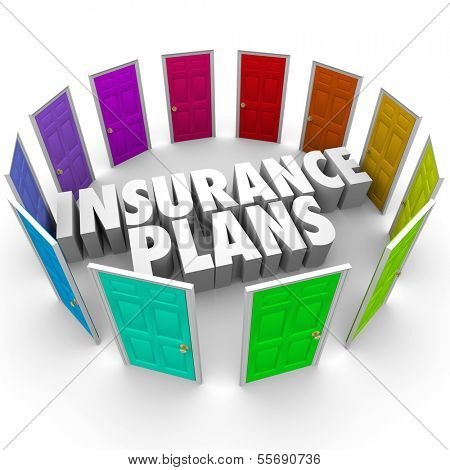 Insurance Plans Many Doors Choose Best Policy Coverage