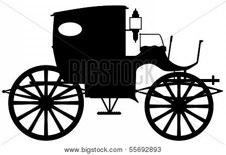 Old Carriage Silhouette