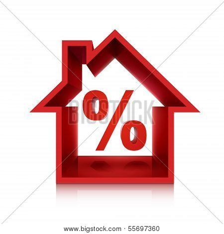 Graphic For Real Estate Business, 3D Percentage