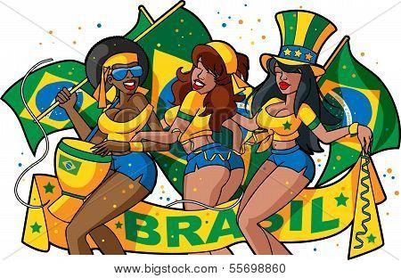 Brazilian soccer fan