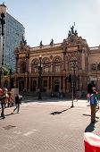 Municipal Theater of Sao Paulo, Brazil.