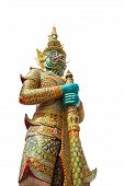 image of ravana  - Ravana giant statue isolate with white Public statue in thailand - JPG