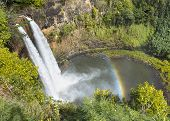 Rainbow on Wailua Falls
