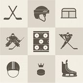 hockey sport icons