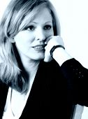 Business Woman Thinking In Black And White