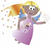 image of tooth-fairy  - Great illustration of a tooth fairy - JPG