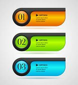 Постер, плакат: Shine Horizontal Colorful Options Bannersbuttons Template Vector Illustration