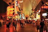 LAS VEGAS, US - OCTOBER 13: Ambiance in Fremont Street at night on 13, 2011 in Las Vegas. There are