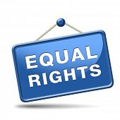 equal rights and opportunities for all women man disabled black and white solidarity discrimination