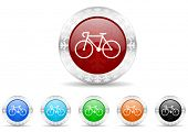 bicycle icon christmas set