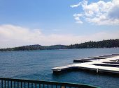 pic of arrowhead  - Beautiful picture of the Lake Arrowhead docks during mid - JPG