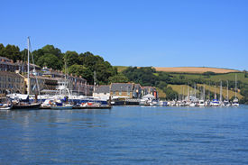 picture of dartmouth  - boats moored on the River Dart at Dartmouth  - JPG