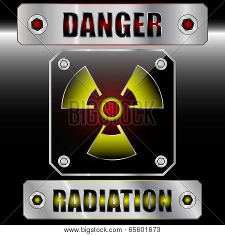 Set Symdols Radioactive Danger